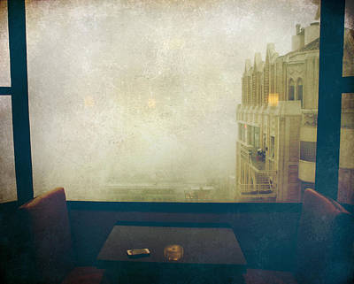 I Just Sat There Staring Out At The Fog Poster by Laurie Search