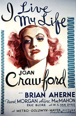 I Live My Life, Joan Crawford, 1935 Poster