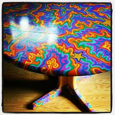 I Painted This Table With #sharpie Oil Poster