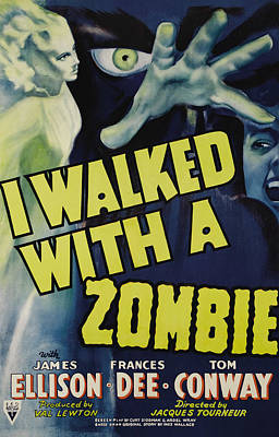 I Walked With A Zombie, 1943 Poster by Everett