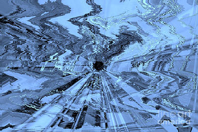 Ice Blue - Abstract Art Poster