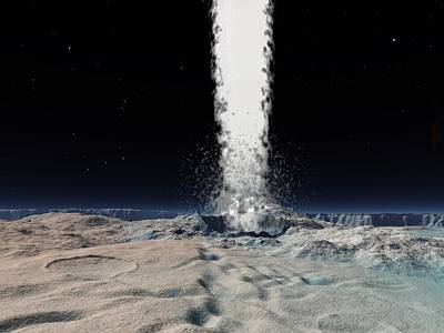 Ice Volcano On Triton, Artwork Poster by Walter Myers