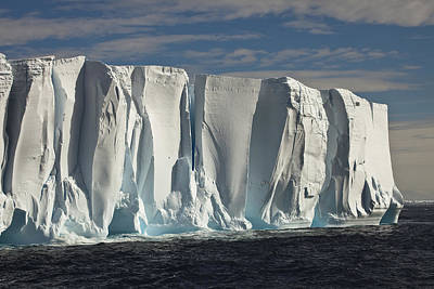 Iceberg Showing Annual Layers Of Snow Poster by Colin Monteath