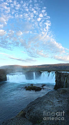 Iceland Godafoss Waterfall - 07 Poster by Gregory Dyer