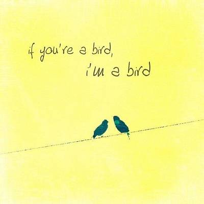 if You're A Bird, I'm A Bird. Poster by Traci Beeson