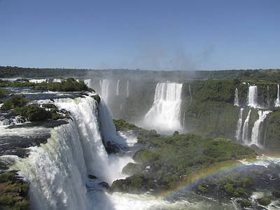Poster featuring the photograph Iguazu Falls by David Gleeson