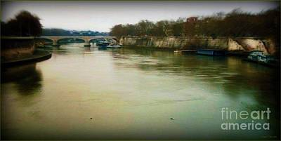 Poster featuring the photograph il Tevere in una sera invernale by Mariana Costa Weldon