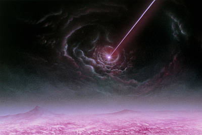 Illustration Of A Pulsar As Seen From Its Planet Poster