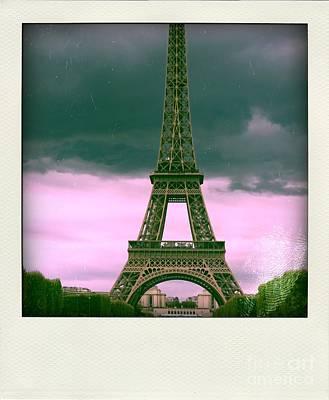 Illustration Of Eiffel Tower Poster by Bernard Jaubert