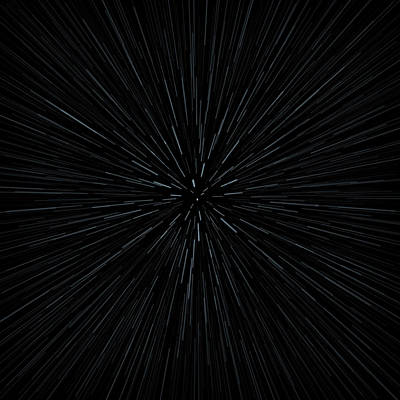 Illustration Of Warp Speed Movement Through Stars Poster by Stockbyte