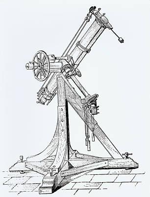 Illustration Showing Koenigsberg Heliometer Poster