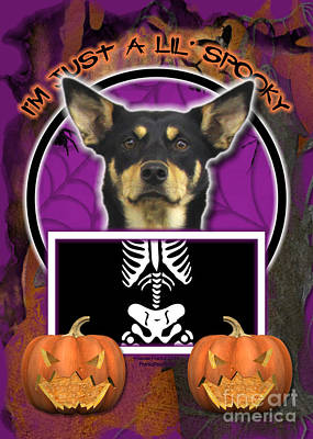 I'm Just A Lil' Spooky Australian Kelpie Poster by Renae Laughner