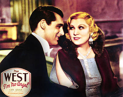 Im No Angel, Cary Grant, Mae West, 1933 Poster