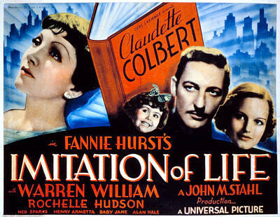 Imitation Of Life, Claudette Colbert Poster by Everett