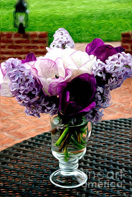 Poster featuring the photograph Impressionist Floral Bouquet by Karen Lee Ensley