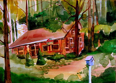 In A Cottage In The Woods Poster by Mindy Newman