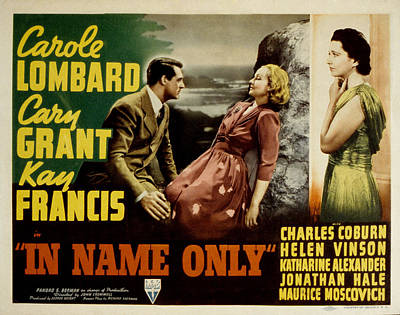 In Name Only, Carole Lombard, Cary Poster