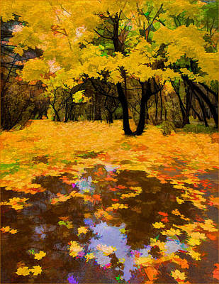 In The Autumn Mood Poster by Vladimir Kholostykh