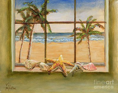 Poster featuring the painting In The Tropics by Vic  Mastis