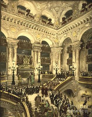 Inauguration Of The Opera House In Paris Poster by Padre Art