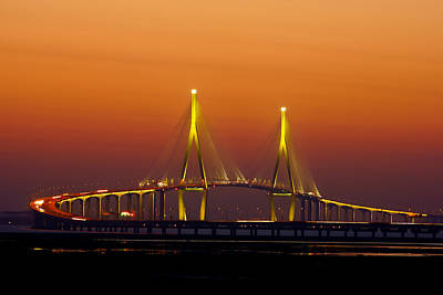 Incheon Bridge, Korea Poster by Ftowlsi