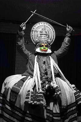 Indian Kathakali Dance Of Kerela 2 Poster
