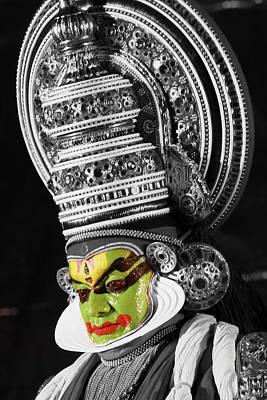 Indian Kathakali Dance Of Kerela 3 Poster
