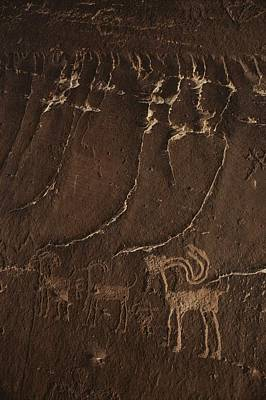 Indian Petroglyph Depicting Mountain Poster