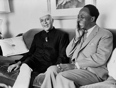 Indian Prime Minister Nehru And Ghana Poster by Everett
