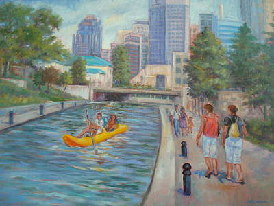 Indianapolis Canal Walk Poster