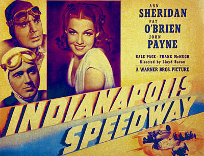 Indianapolis Speedway, Pat Obrien, John Poster by Everett