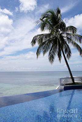 Poster featuring the photograph Infinity Pool Big Corn Island Nicaragua by John  Mitchell