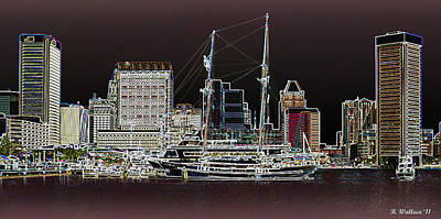 Inner Harbor - Baltimore Poster by Brian Wallace
