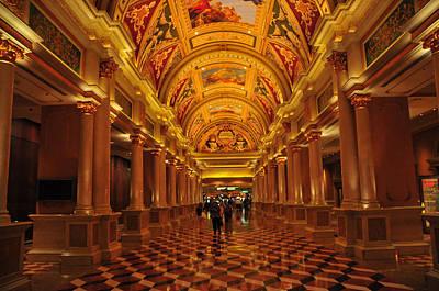 Inside A Hotel In Las Vegas Poster by Jorge Fajl