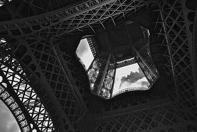 Poster featuring the photograph Inside The Eiffel Tower by Eric Tressler