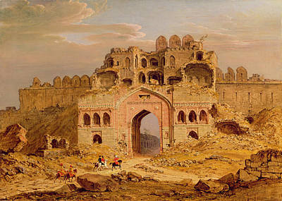 Inside The Main Entrance Of The Purana Qila - Delhi Poster by Robert Smith