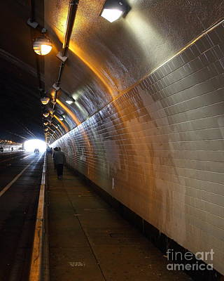 Inside The Stockton Street Tunnel In San Francisco . 7d7363.1 Poster by Wingsdomain Art and Photography