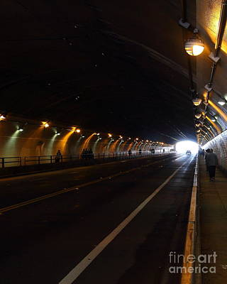 Inside The Stockton Street Tunnel In San Francisco . 7d7363.2 Poster by Wingsdomain Art and Photography