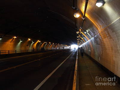 Inside The Stockton Street Tunnel In San Francisco . 7d7363.3 Poster by Wingsdomain Art and Photography