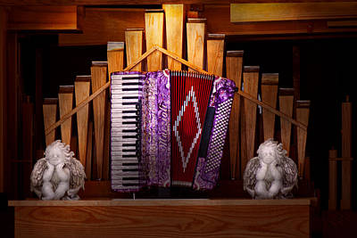Instrument - Accordian - The Accordian Organ  Poster by Mike Savad