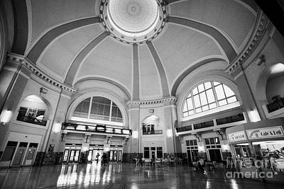 Interior Of Union Station Via Rail Canada Downtown Winnipeg Manitoba Canada Poster by Joe Fox