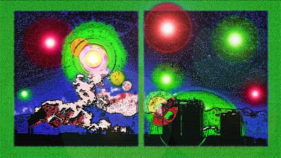 Interplanetary Conceptual Diptych 2 Poster by Steve Ohlsen