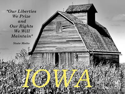 Iowa Pride Poster by Lin Haring
