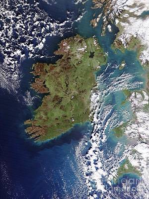 Ireland, True-color Terra Modis Poster