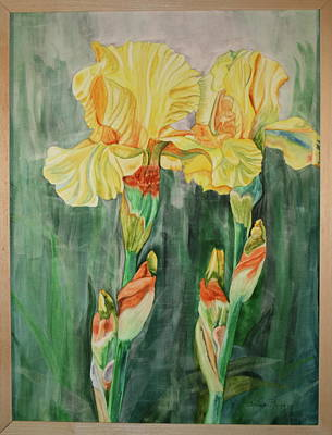 Poster featuring the painting Irises II by Teresa Beyer