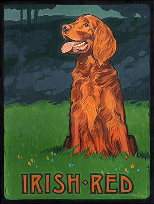 Irish Red Poster by Shawn Shea
