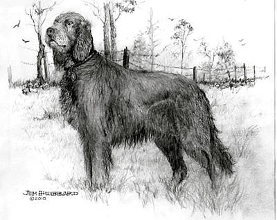 Poster featuring the drawing Irish Setter by Jim Hubbard