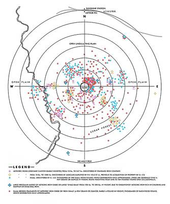 Iron Distribution Map, Barringer Crater Poster