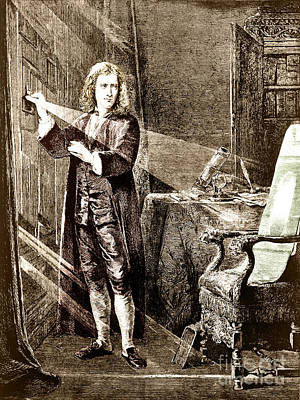 Isaac Newton Ray Of Light Poster
