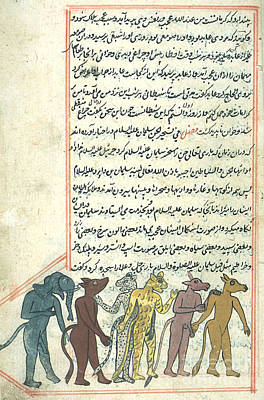 Islamic Demons, Jinns, 16th Century Poster by Photo Researchers